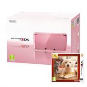 Nintendo 3DS (pink) + Nintendogs & Cats Golden Retriever and New Friends 3 DS