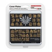 New Nintendo 3DS Cover Plate (Monster Hunter 4 mintázatú, black) (Cover)