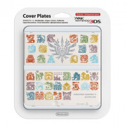 New Nintendo 3DS Cover Plate (Monster Hunter 4 mintázatú, white) (Cover)