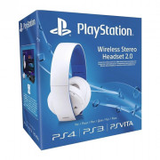 Sony Wireless Stereo Headset 2.0 (7.1 Virtual Surround, White)