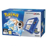 Nintendo 2DS (Priehľadný, Blue) + Pokémon Blue Version 3 DS