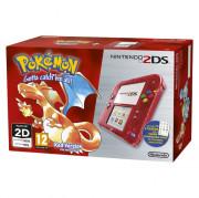 Nintendo 2DS (Priehľadný, Red) + Pokémon Red Version