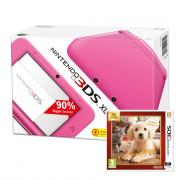 Nintendo 3DS XL (pink) + Nintendogs + Cats Golden Retriever