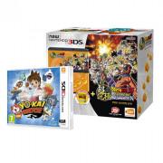 New Nintendo 3DS (Black) Dragon Ball Z Extreme Butoden Bundle + Yo-Kai Watch 3 DS