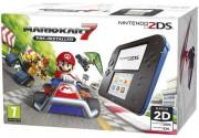 Nintendo 2DS Black and Blue + Mario Kart 7 3 DS