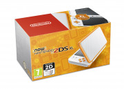New Nintendo 2DS XL (White-Orangeyellow) 3 DS