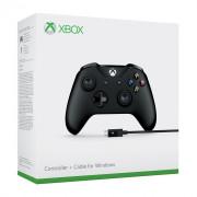 Xbox One Bezdrôtový ovládač (Black) + Kábel pre systém Windows