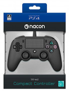 Playstation 4 (PS4) Nacon Wired Compact Ovládač (čierny) PS4