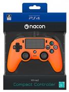 Playstation 4 (PS4) Nacon Wired Compact Ovládač (oranžový)