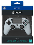 Playstation 4 (PS4) Nacon Wired Compact káblový ovládač (šedý) PS4