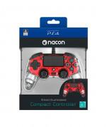 PlayStation 4 (PS4) Nacon Wired Compact Ovládač (červený)
