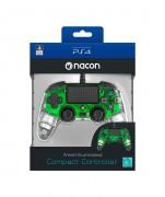 PlayStation 4 (PS4) Nacon Wired Compact Ovládač (Illuminated) (Green) PS4