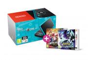 New Nintendo 2DS XL (Black-Turquoise) +Pokemon Ultra Moon + Mario Sports S 3 DS
