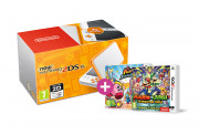 New Nintendo 2DS XL (White-Orange) + Kirby Battle Royale + M&L Superstar S 3 DS