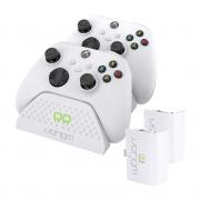 VENOM VS2871 Xbox Series S & X biela nabíjačka na 2 ovládače+ 2 batérie