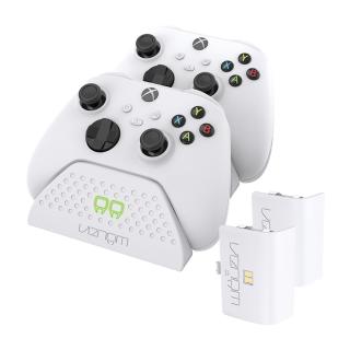 VENOM VS2871 Xbox Series S & X biela nabíjačka na 2 ovládače+ 2 batérie Xbox Series