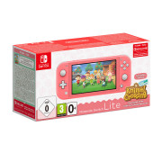 Nintendo Switch Lite Coral & Animal Crossing: New Horizons Edition