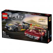 LEGO Speed Champions Chevrolet Corvette C8.R Race Car and 1968 Chevrolet Corvette (76903)