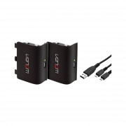 Venom VS2850 Xbox One black battery set (2ks) + 2m kábel Xbox One