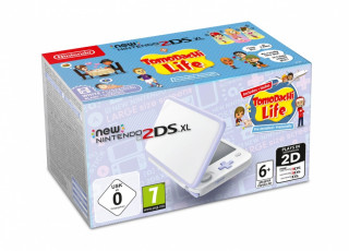 New Nintendo 2DS XL (White & Levendula) + Tomodachi Life 3DS