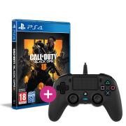 Call of Duty: Black Ops 4 + Nacon káblový ovládač (čierny) PS4