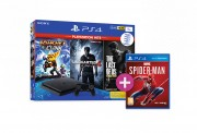 PlayStation 4 (PS4) Slim 1TB + Ratchet & Clank+ The Last of Us + Uncharted 4 (PlayStation Hits) + Spider-Man PS4