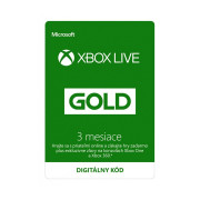 Xbox Live Gold na 3 mesiace (Kód na stiahnutie)