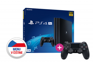 Playstation 4 Pro 1TB + PS4 Sony Dualshock 4 Ovládač PS4