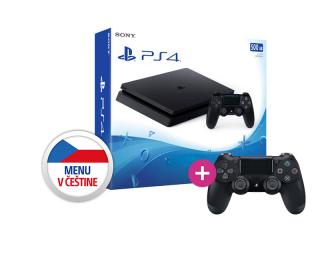 Playstation 4 (PS4) Slim 500GB + PS4 Sony Dualshock 4 Ovládač PS4