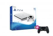 PlayStation 4 (PS4) Slim 500GB Glacier White + PS4 Sony Dualshock 4 Wireless Ovládač