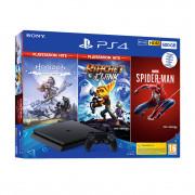 PlayStation 4 (PS4) Slim 500GB + Marvel's Spiderman + Horizon Zero Dawn + Ratchet and Clank (HITS Bundle)