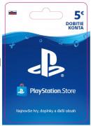 ESD SK - PS Store el. peňaženka - 5 EUR (Kód na stiahnutie)