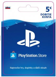 ESD SK - PS Store el. peňaženka - 5 EUR (Kód na stiahnutie) PS4