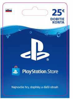ESD SK - PS Store el. peňaženka - 25 EUR (Kód na stiahnutie) PS4