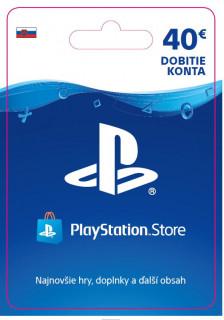 ESD SK - PS Store el. peňaženka - 40 EUR (Kód na stiahnutie) PS4