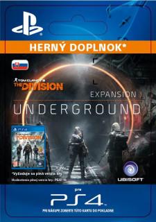 ESD SK PS4 – TOM CLANCY'S THE DIVISION underground (Kód na stiahnutie) PS4