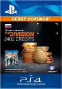 ESD SK PS4 - Tom Clancy's The Division - 2400 Premium Credits Pack (Kód na stiahnutie)