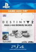 ESD SK PS4 - 1000 (+100 Bonus) Destiny 2 Silver (Kód na stiahnutie)