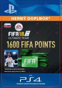 ESD SK PS4 - 1600 FIFA 18 Points Pack (Kód na stiahnutie)