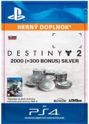 ESD SK PS4 - 2000 (+300 Bonus) Destiny 2 Silver (Kód na stiahnutie)