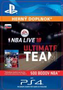ESD SK PS4 - EA SPORTS™ NBA LIVE 18 ULTIMATE TEAM™ - 500 NBA POINTS (Kód na stiahnutie)