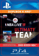 ESD SK PS4 -EA SPORTS™ NBA LIVE 18 ULTIMATE TEAM™ - 2800 NBA POINTS (Kód na stiahnutie)