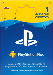 ESD SK PS4 – PlayStation Plus 1 Month Subscrip. (Kód na stiahnutie) PS4