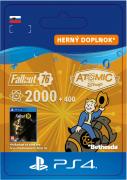 ESD SK PS4 - Fallout 76: 2000 (+400 Bonus) Atoms (Kód na stiahnutie) PS4