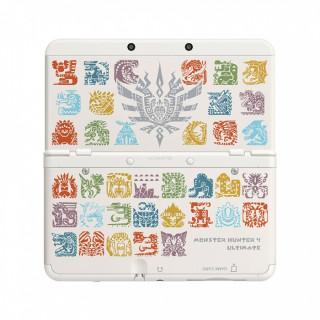 New Nintendo 3DS Cover Plate (Monster Hunter 4 mintázatú, white) (Cover) 3DS