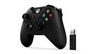 Xbox One bezdrôtový Ovládač (Black) + Adapter pre systém Windows 10 Xbox One